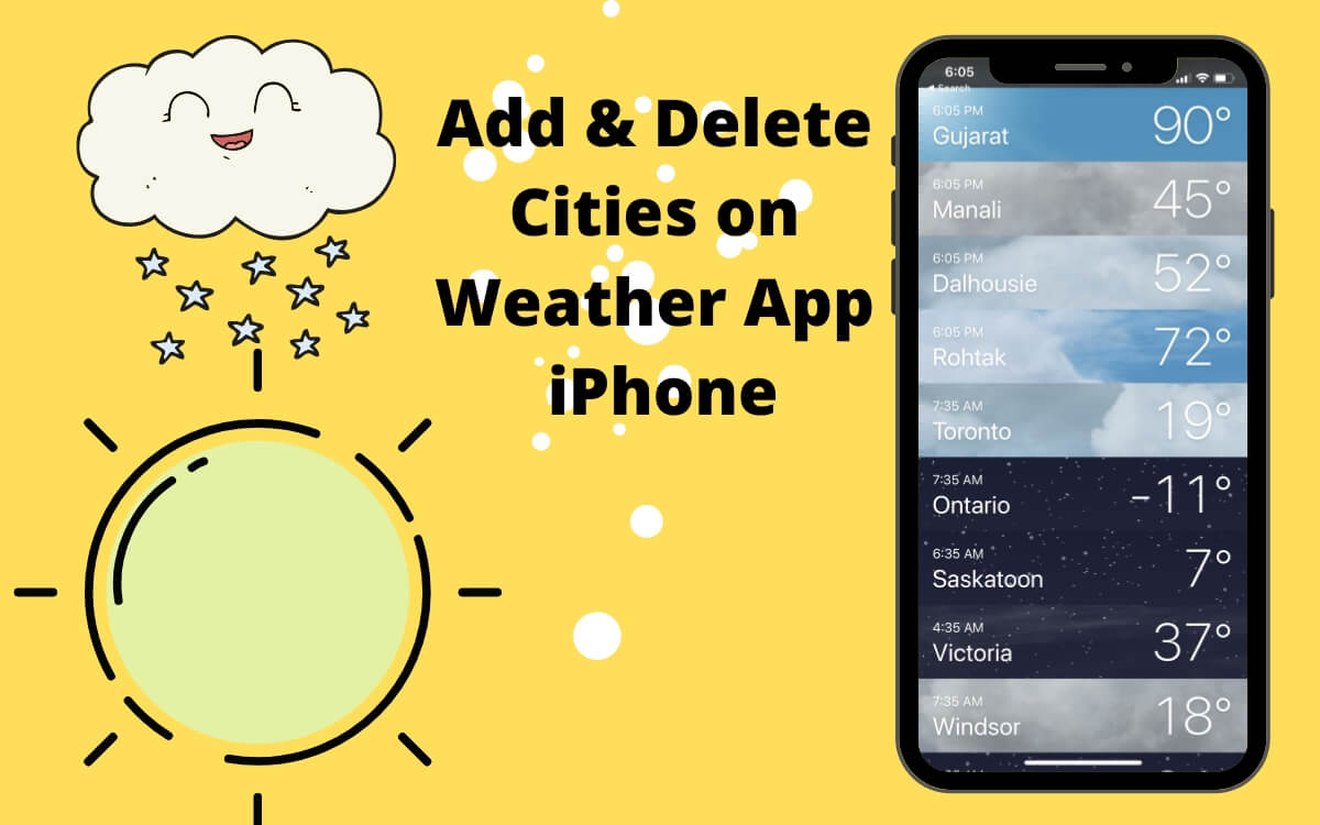 Add or Delete Location on Weather App iPhone
