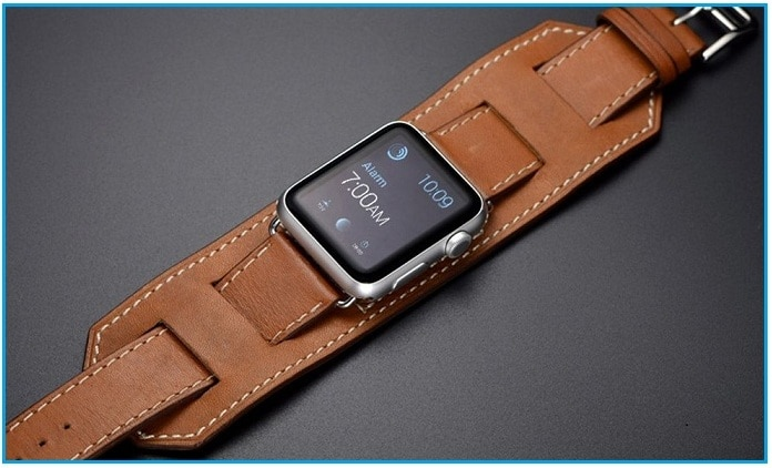 Apple Watch Leather Band Cuff Bracelet Wrist Watch Band