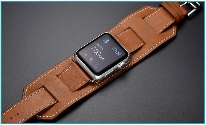 Apple Watch Leather Band Cuff Bracelet Wrist Watch Band