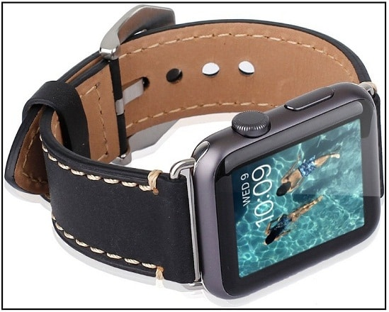 42mm Apple Watch Sport Edition leather strap