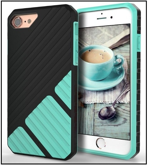 Fancy Textured Grip cover for iPhone 7 high quality 2016-2017