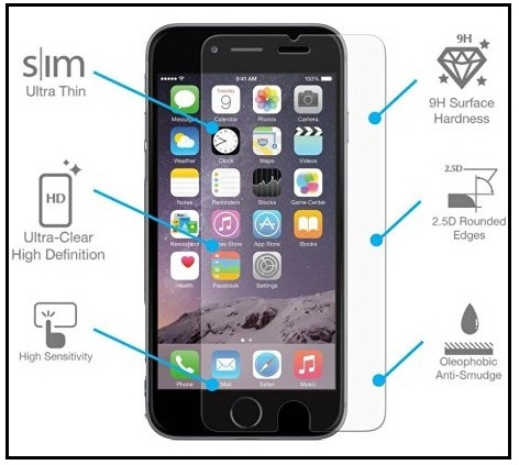 Top iPhone 7 Case friendly Tempered Glass Protector