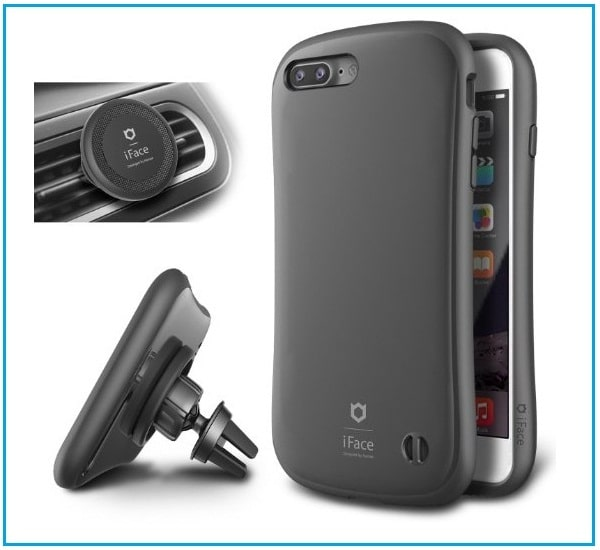 Best iPhone 7 Plus Rugged Armor Bumper Case & Car holder