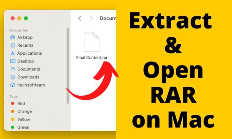 Extract & Open RAR on Mac & macbook