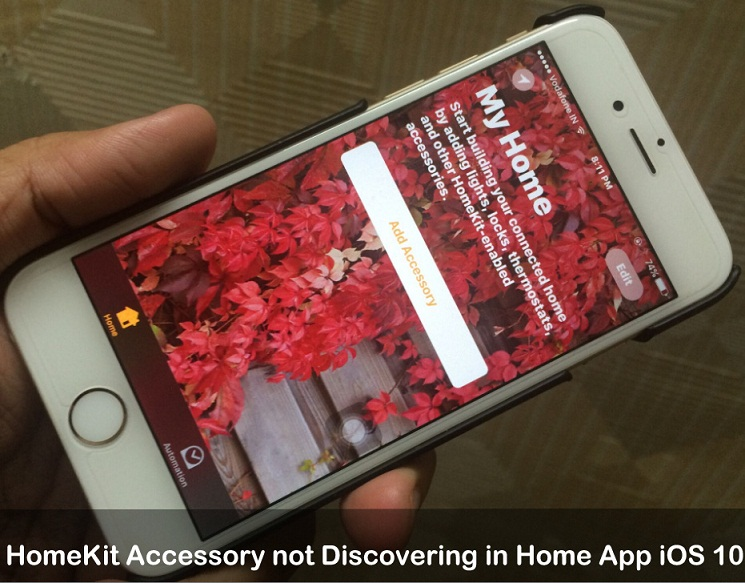 HomeKit Accessory not Discovering in Home App iOS 10
