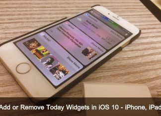 How to Add or Remove Today Widgets in iOS 10