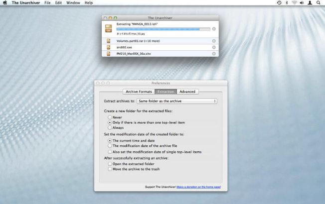 unpack rar files on mac os x
