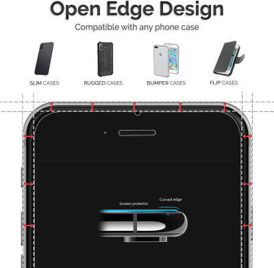 Power Theory iPhone 7 8 Glass Screen Protector