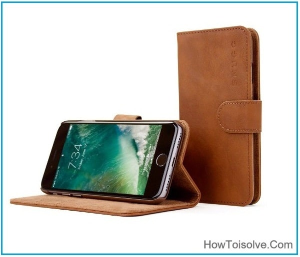 Good snugg iPhone 7 Plus leather Wallet Case