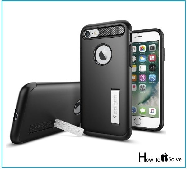 iPhone 7 Kickstand case to watching video by Spigen