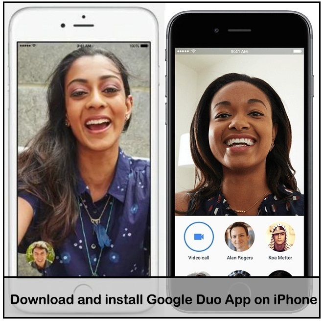 Download install iOS Google Duo video calling App on iPhone
