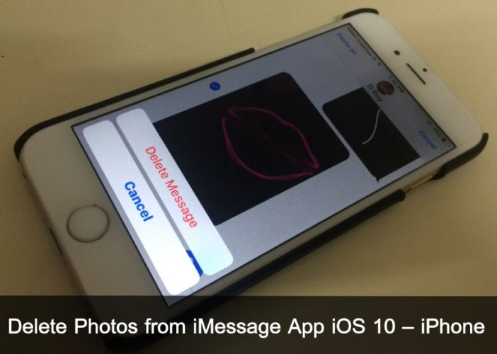 Delete Photos from iMessage App iOS 10 iPhone