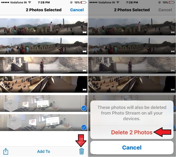 iPhone Delete Panoramas in iOS 10 Photo picture
