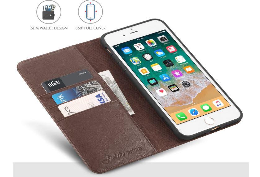 iPhone 7 plus folio leather case
