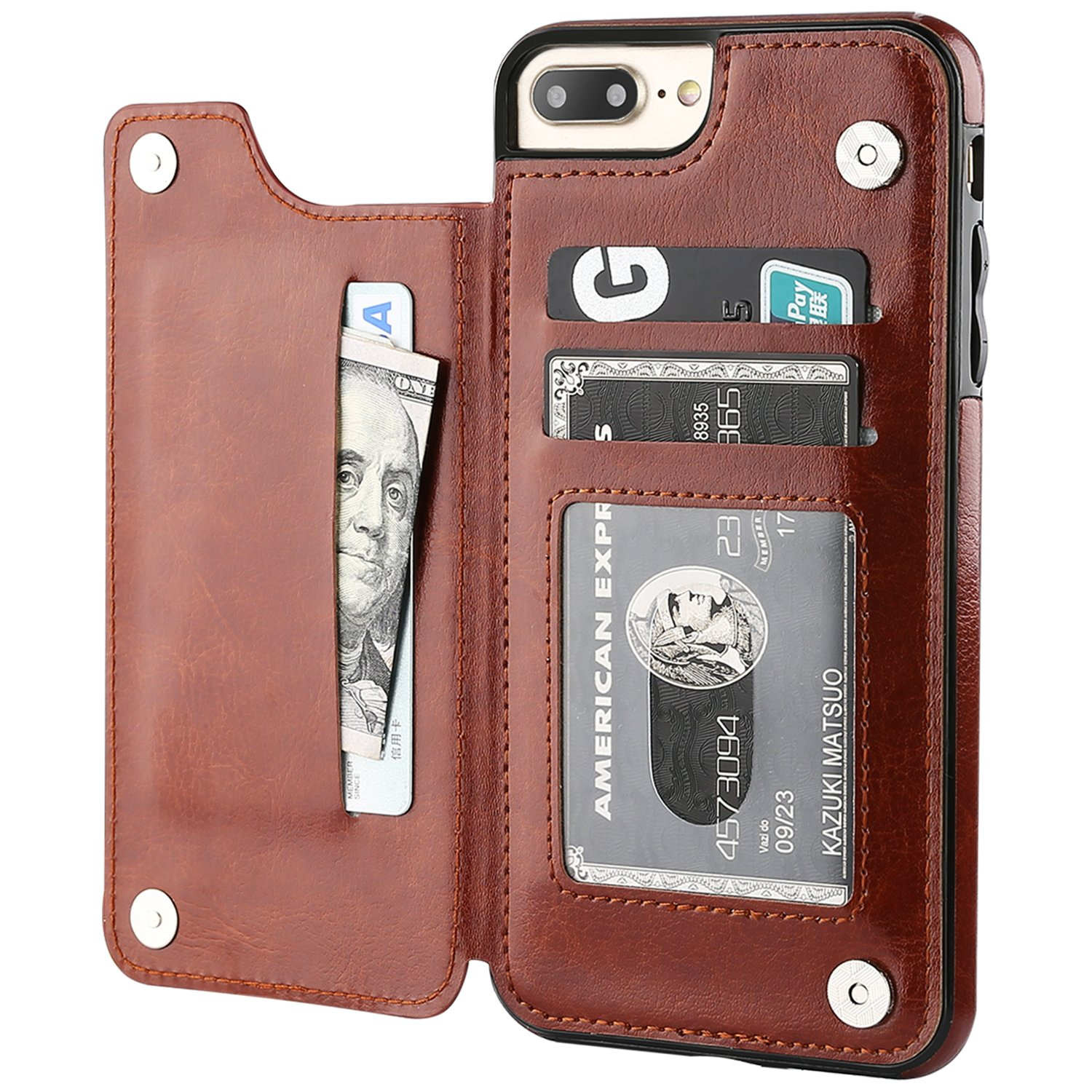 on top iphone 7 plus wallet case