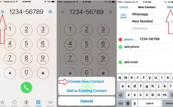 Add new contact in Phone app from iPhone, iPad