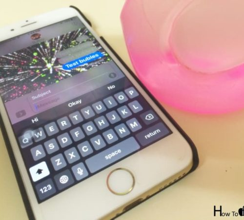 use screen effect in iMessage with Bubbles and Fireworks