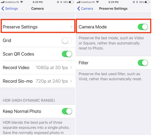 13 Enable Preserve Mode on iPhone