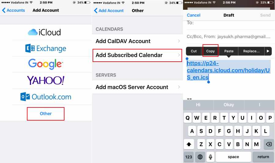 Add URL for UK/ New Zealand USA Subsribed Holiday to iOS