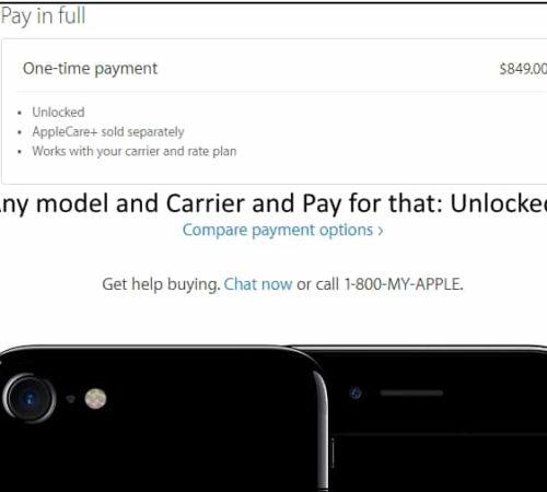 2 Buy unlocked iPhone 7 or 7 Plus on Apple website store web