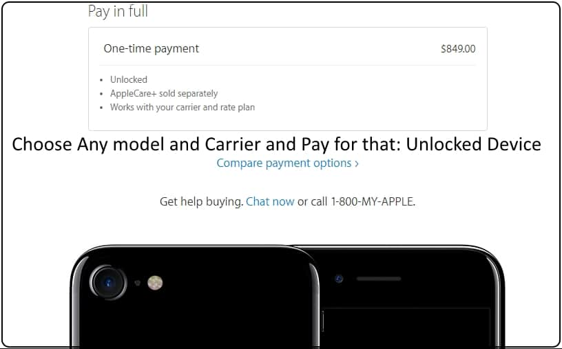 2 Buy unlocked iPhone 7 or 7 Plus on Apple website store web
