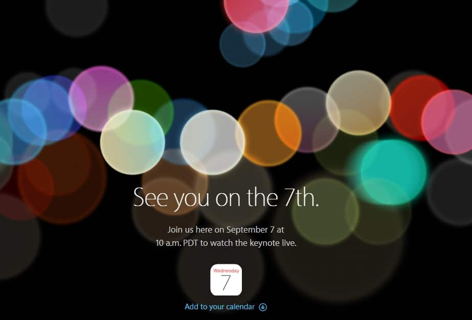 Watch live iPhone 7 keynote on Windows Mac or iOS device