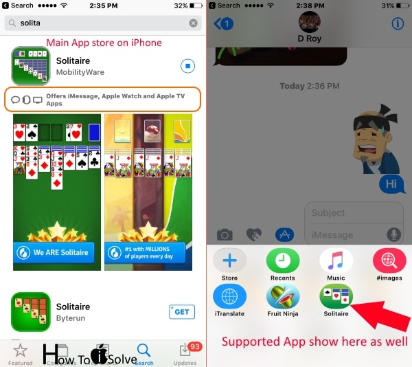 Install iMessage app or Game from app store Play games in iMessage iOS 10