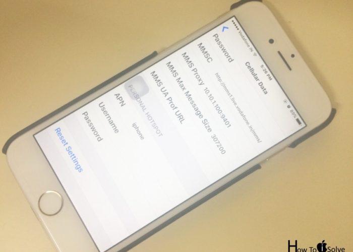 Edit Cellular Setting on iOS 10