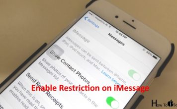 Enable Restriction for iMessage on iPhone