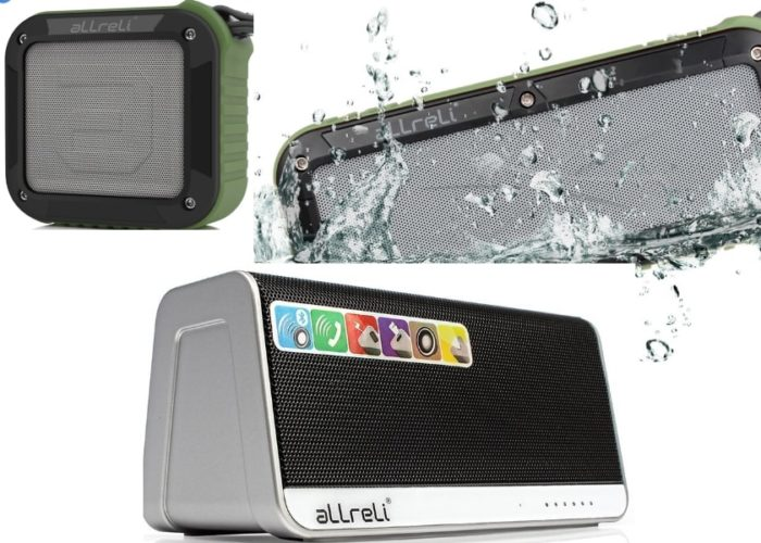 aLLreLi Bluetooth Speaker for iOS device with Waterproof play