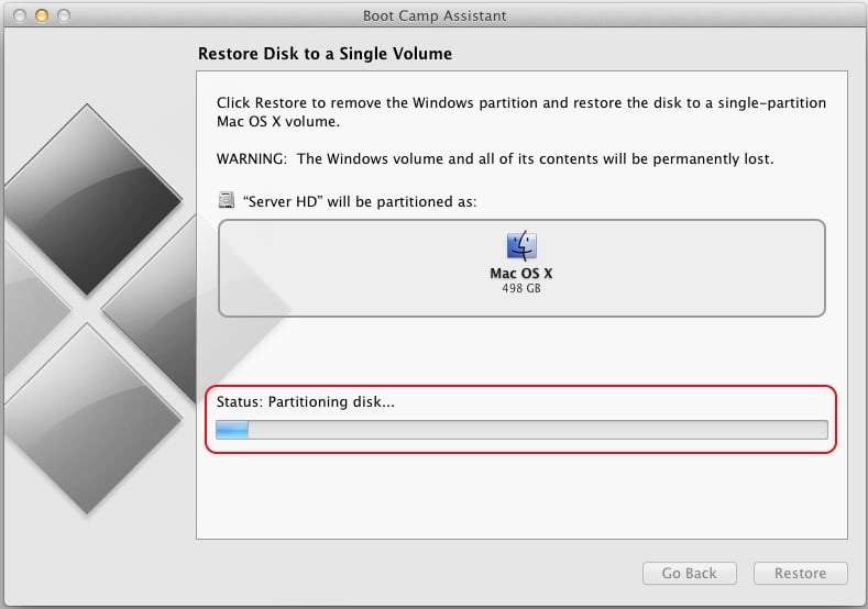 Process of Restore Disk volume