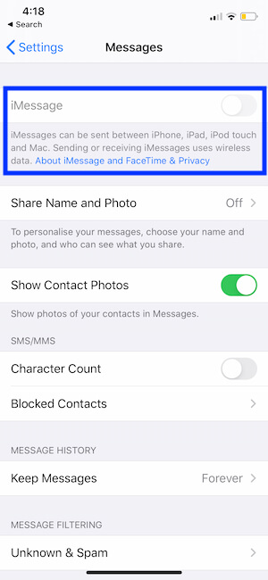 Account Changes Don't allow under screen time restrictions on iPhone