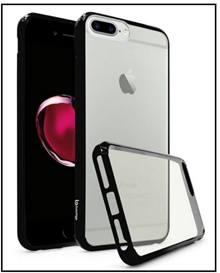 bastex clear rubber back cover for apple iphone 7 plus