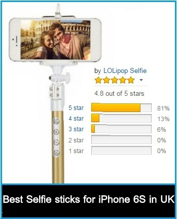 good Selfie Stick for iPhone 6s in deals christmas