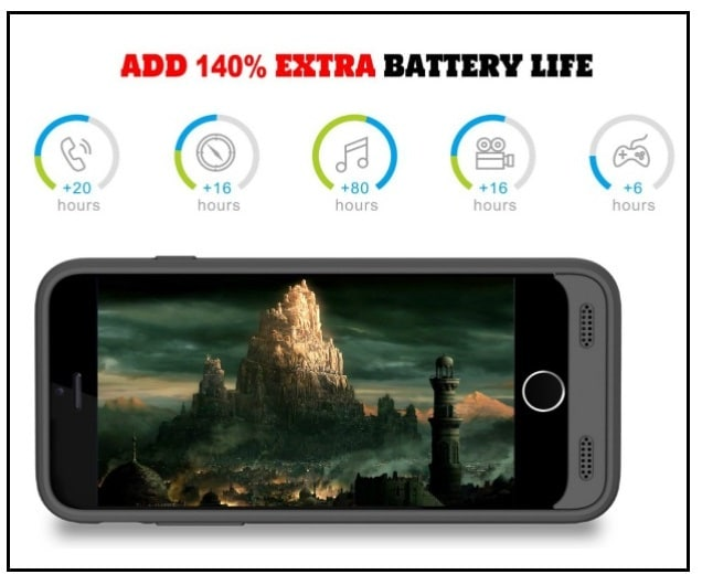 High capacity iPhone 7 battery Charging Case