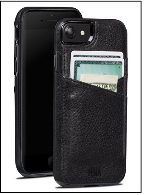 Drop Safe Leather Wallet case best iPhone 7 Sena case