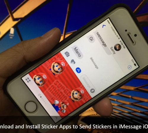Send Stickers in iMessage on iPhone 7 Plus on iOS 10
