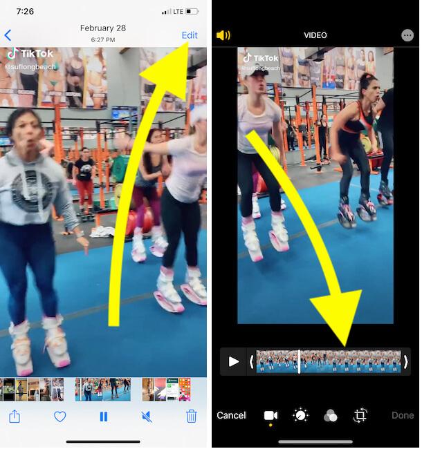 Edit VIdeo on iPhone Photos app