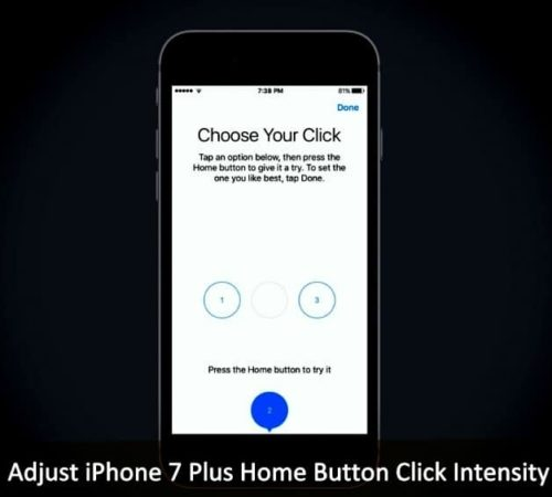 Adjust iPhone 7 Plus Home Button Click Intensity