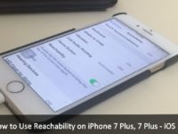How to Use Reachability on iPhone 7 Plus, iPhone 7 Plus