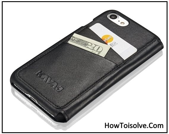 KAVAJ black leather case for iPhone 7