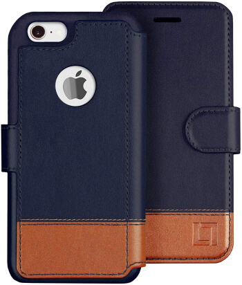 LUPA iPhone 8 Wallet Case, Durable and Slim