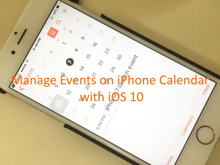 Manage iPhone calendar event by Edit Update or Delete