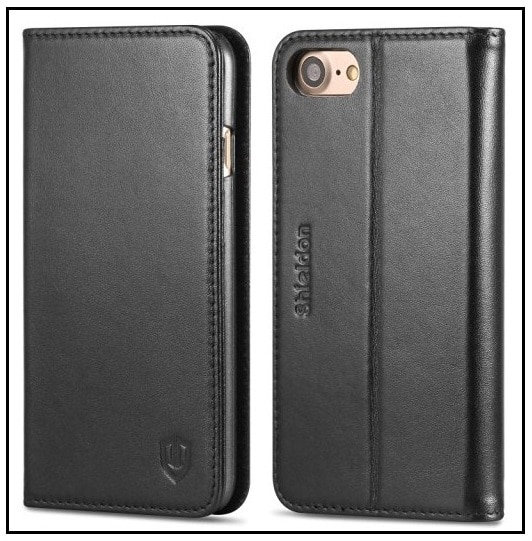 Protective iPhone 7 Leather cover by SHIELDON
