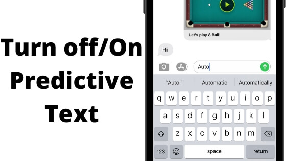 Turn off_On Predictive Text from iPhone iPad Keyboard