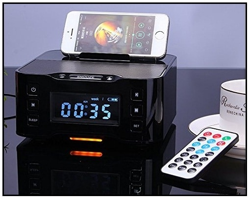 Bluetooth Speaker dock with Alarm Clock for iPhone 7 Plus