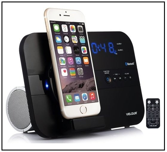 iPhone 7 Plus Charging and Fm Radio + Bluetooth Speaker dock
