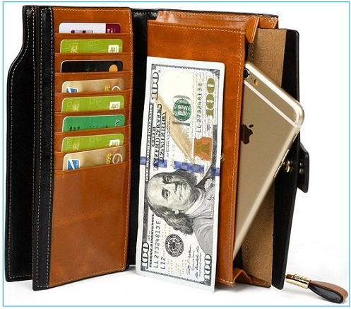Yahoho case best iPhone 6S plus leather wallet for Women
