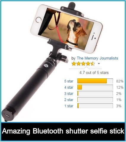 selfie stick Bluetooth Remote Shutter Extendable Pole Monopod for iphone 6 Plus