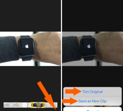 cut Video from your iPhone in iOS 12